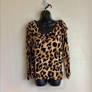INC International Concepts Tops - Leopard Print Top by International Concepts Size L